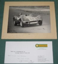 Brian Lister on period Photo of Scot-Brown's Lister Jaguar